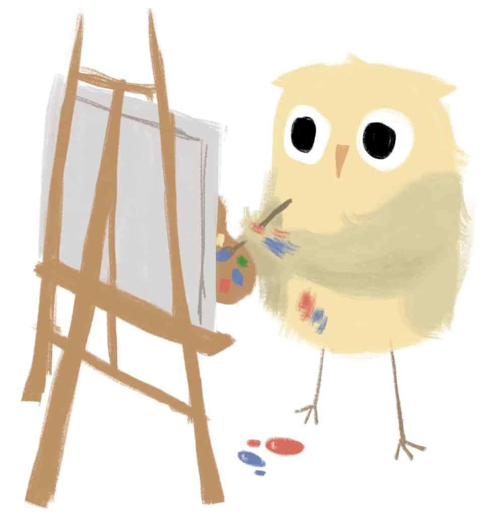 lechuza pintando